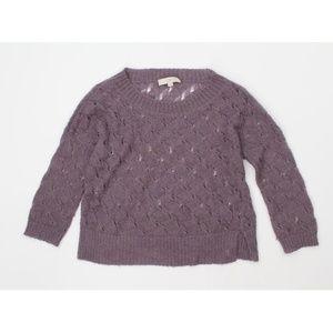 Loft Crop Sheer wool blend soft Sweater
